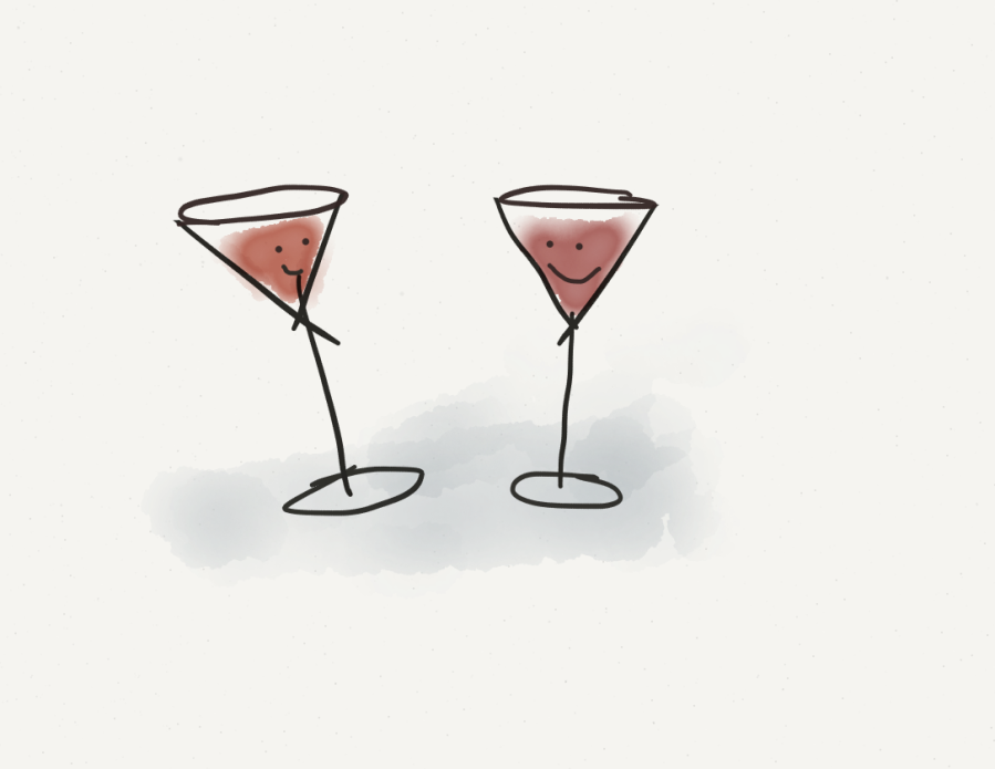 image of two happy wine glasses!
